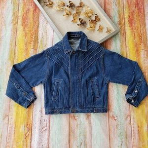 We Steal The Moon Stitched Denim Jean Jacket XS/S